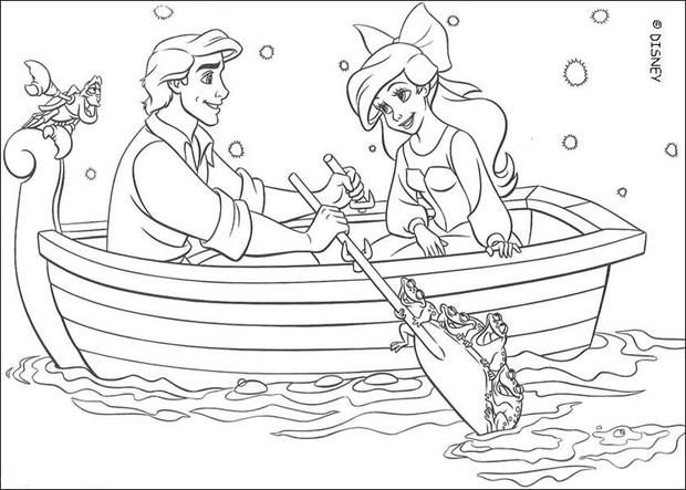 Coloring Sheet About Disney Movie The Little Mermaid Beautiful