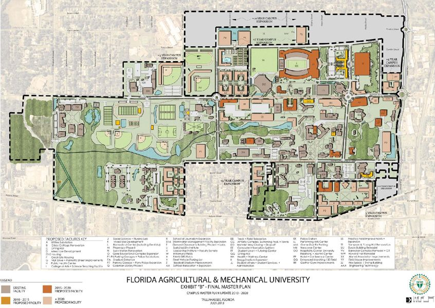 Florida A&M University Map Florida A&M University Campus Master Plan   University campus