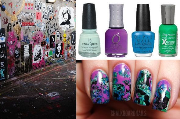 This Nail Art Is A Total Mess Splatter Nails Paint Splatter And