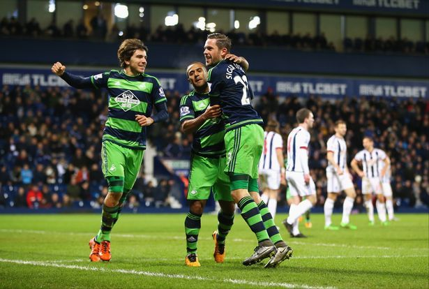 West Bromwich Albion 1-1 Swansea City Match Report