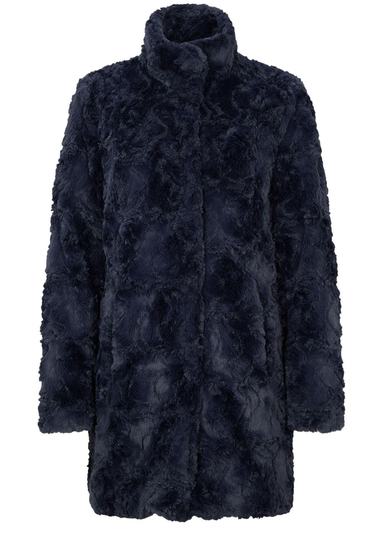 Fake fur mantel damen