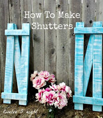 How To Make Shutters - twelve O eight blog- #shutters #country #farmhouse #shabby #spring