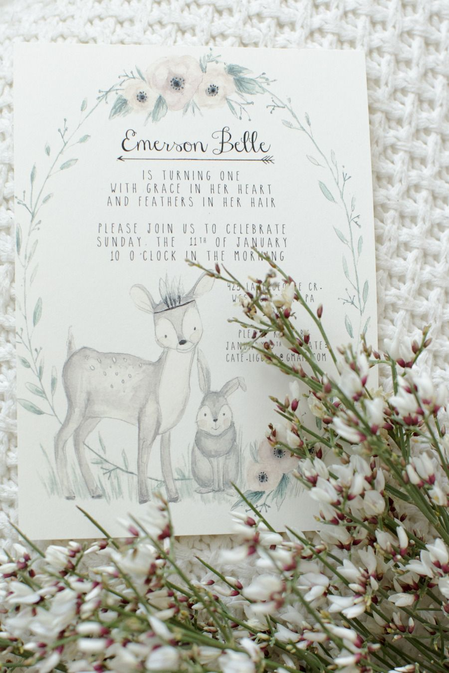 Photography: Feather + Light - www.featherandlight.com/  Read More: http://www.stylemepretty.com/living/2015/03/02/woodland-animal-themed-1st-birthday-party/