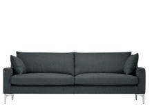 Mendini 3 Sitzer Sofa Anthrazit Canape Design Canape 3 Places Canape