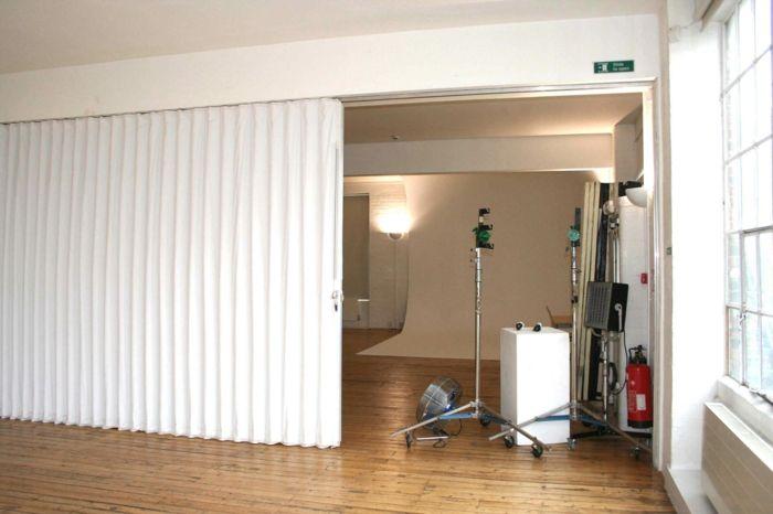 raumtrenner ideen raumteiler vorhang raumteiler regal weisse deko wand bungsraum - Raumtrennvorhnge