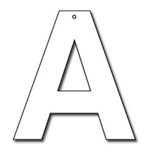letter a cut outs cut out letter a cardboard ea lombard the paper 18258