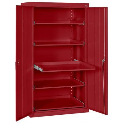 Sandusky 2 Door Storage Cabinet Color: Red