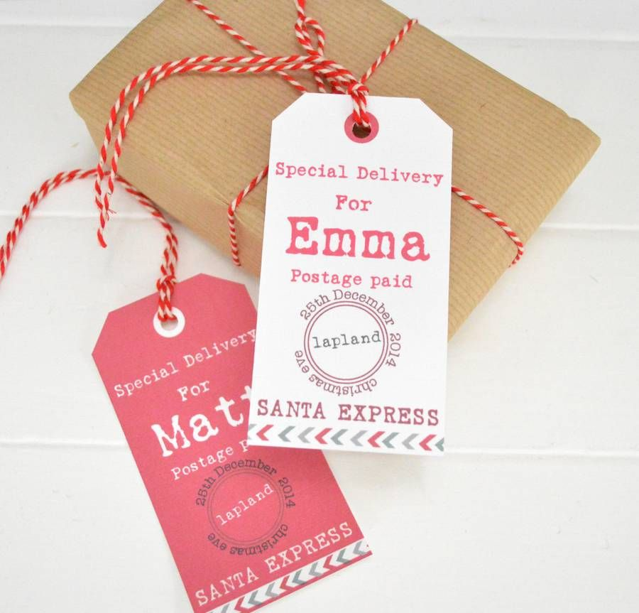 Personalized gift label
