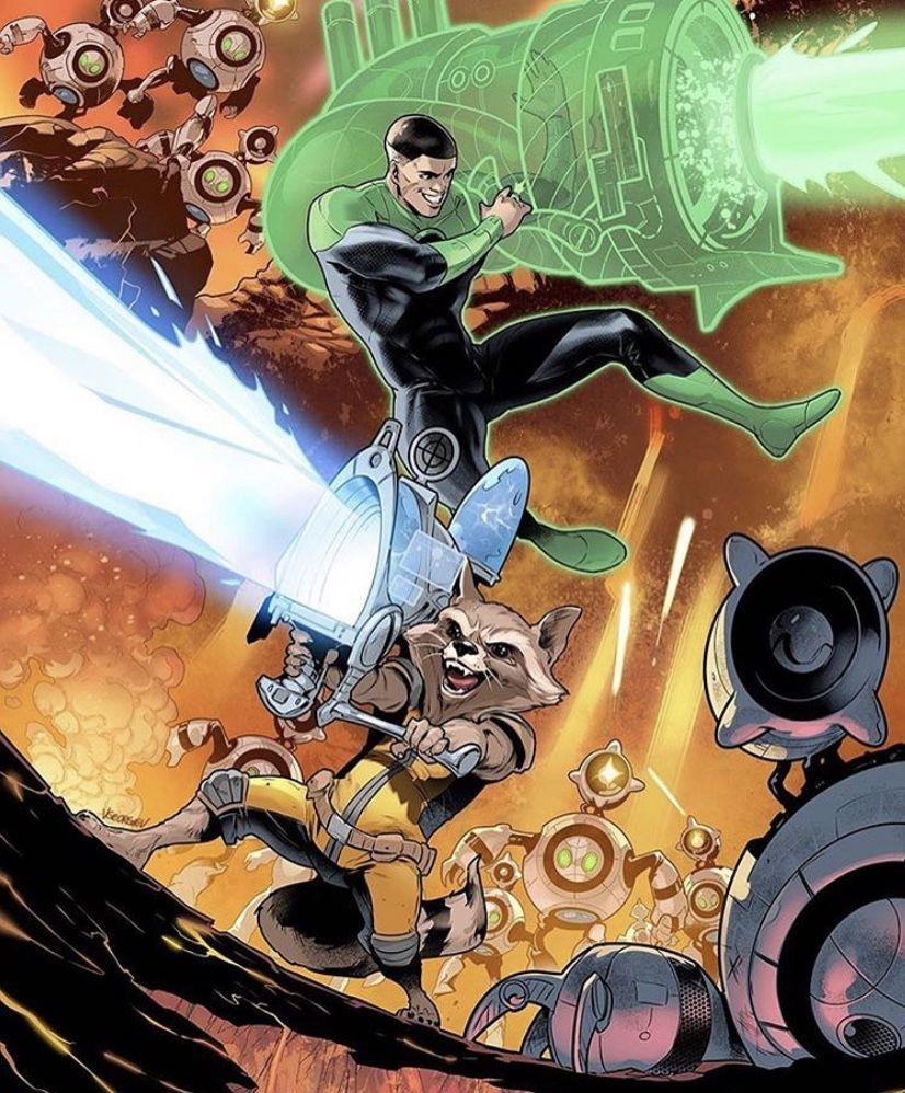 GL John Stewart/Rocket Raccoon en 2020 Héroes marvel