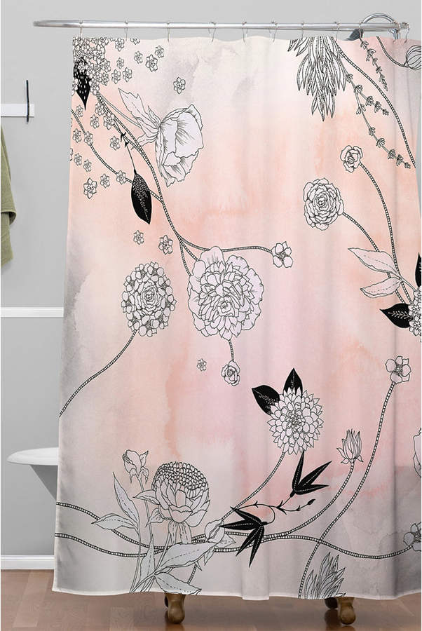 Deny Designs Iveta Abolina Coral Dust Shower Curtain Bedding