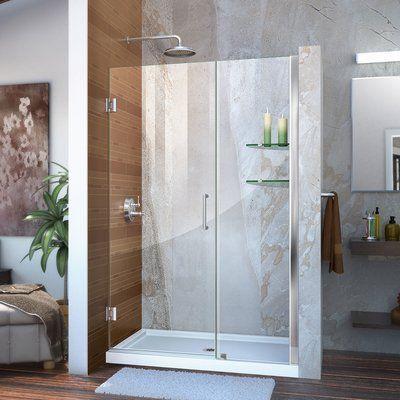 Dreamline Unidoor 46 W X 72 H Hinged Frameless Shower Door With