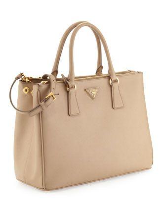 08601a252260 Prada Saffiano Double-Zip Executive Tote Bag