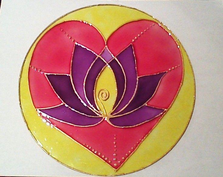 Mandala de corazón...mi favorito...doy el crédito a etsy.com de donde salió el diseño