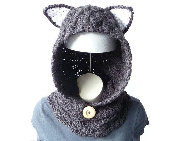 Cowl Hood Crochet Pattern Chunky Cowl Headwarmer Neck Warmer Pattern