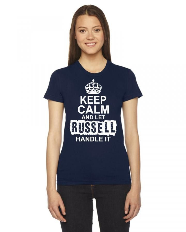 keep calm and let russell handle it 1 Ladies Fitted T-Shirt