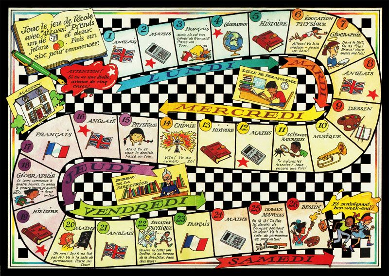 french game about school week Board games, Kids