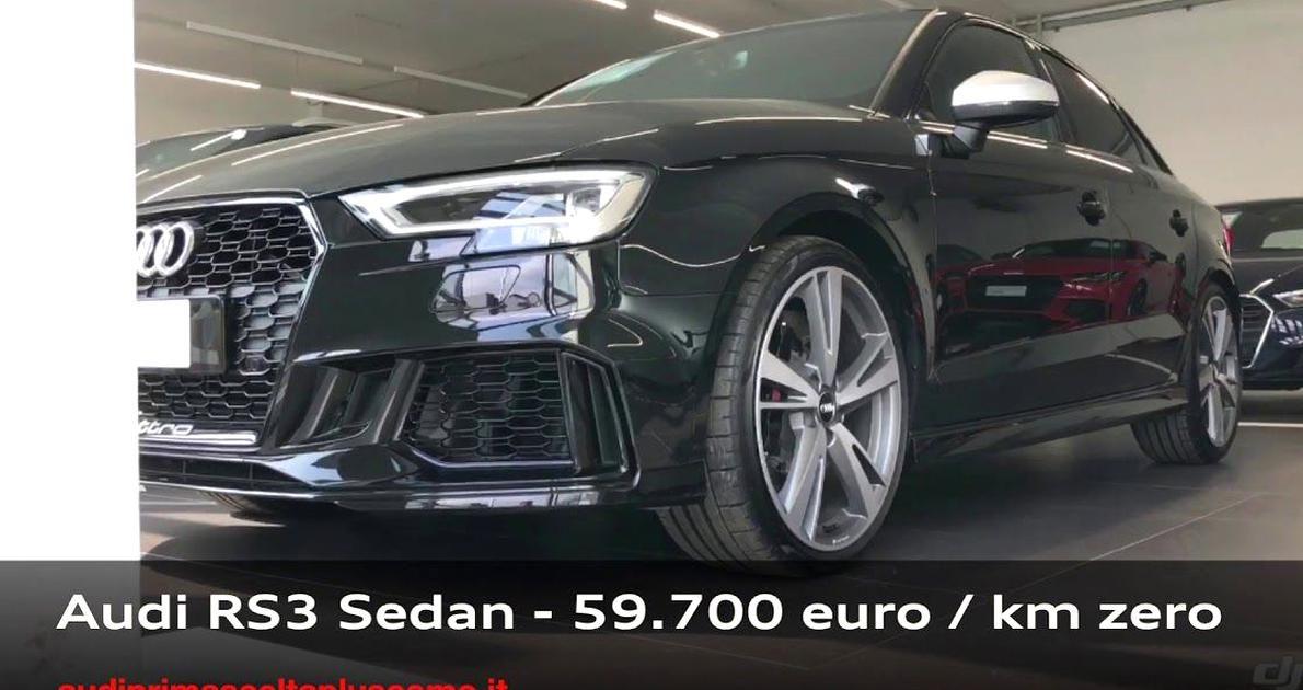 Audi Rs3 Sedan Km Zero Lauto Spa In 2020 Audi Rs3 Audi Sedan