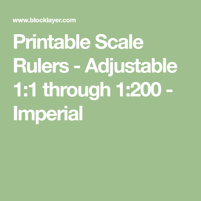 photograph about Printable Scale Ruler called Printable Scale Rulers - Adjustable 1:1 in the course of 1:200