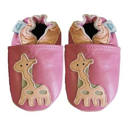 Dotty Fish Soft Leather Baby Shoes with Suede Soles. Pink Giraffe design - Newborn Dotty Fish,     http://amzn.to/15VkbRg