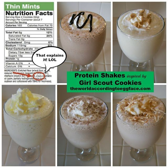 Scout Cookie Inspired Protein Shakes for my Health Fitness Workout Weight Loss Bariatric Surgery Pals