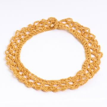Crochet Collar Style Necklace (Gold) by taitutrading for $28.00