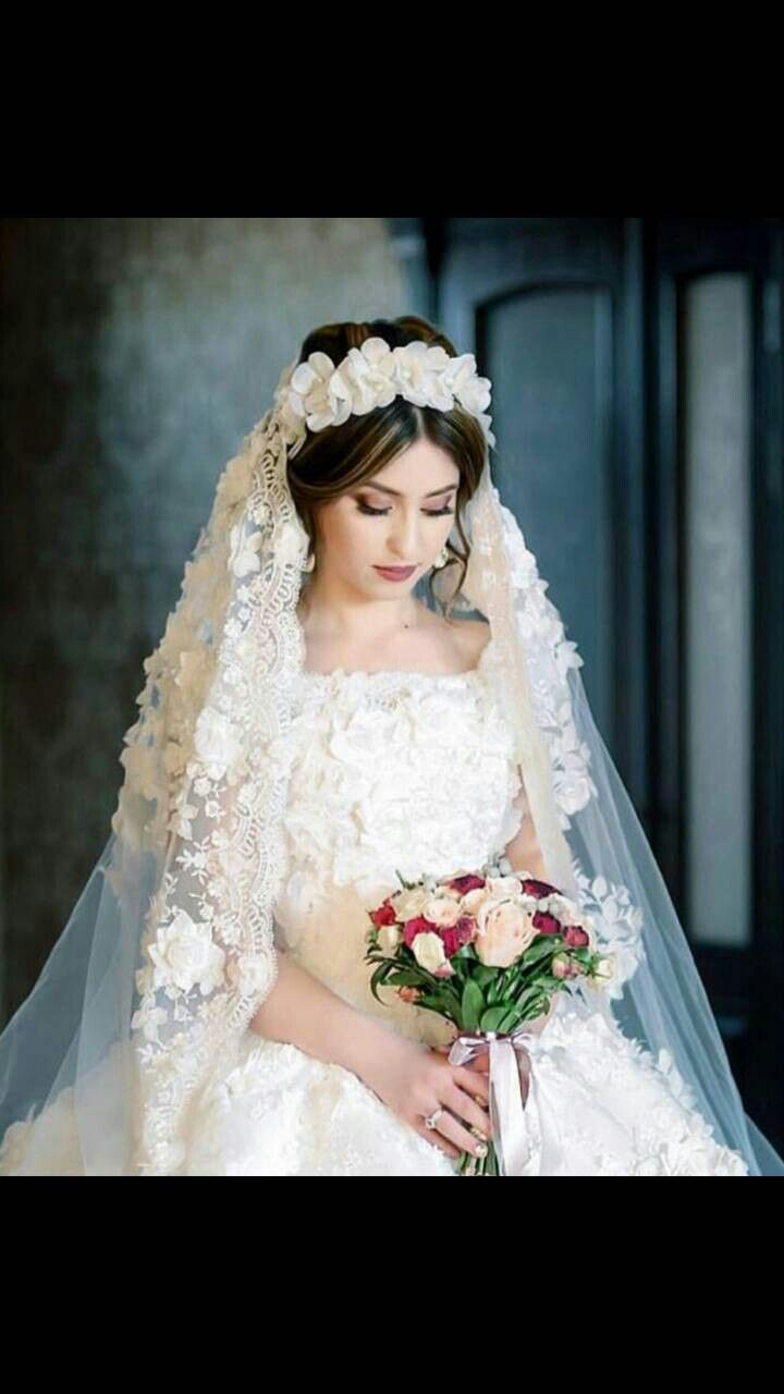 Pinterest |Beautiful Wedding Gowns With Veils