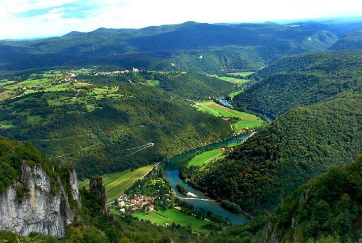 Valley of Kolpa river, Slovenia.