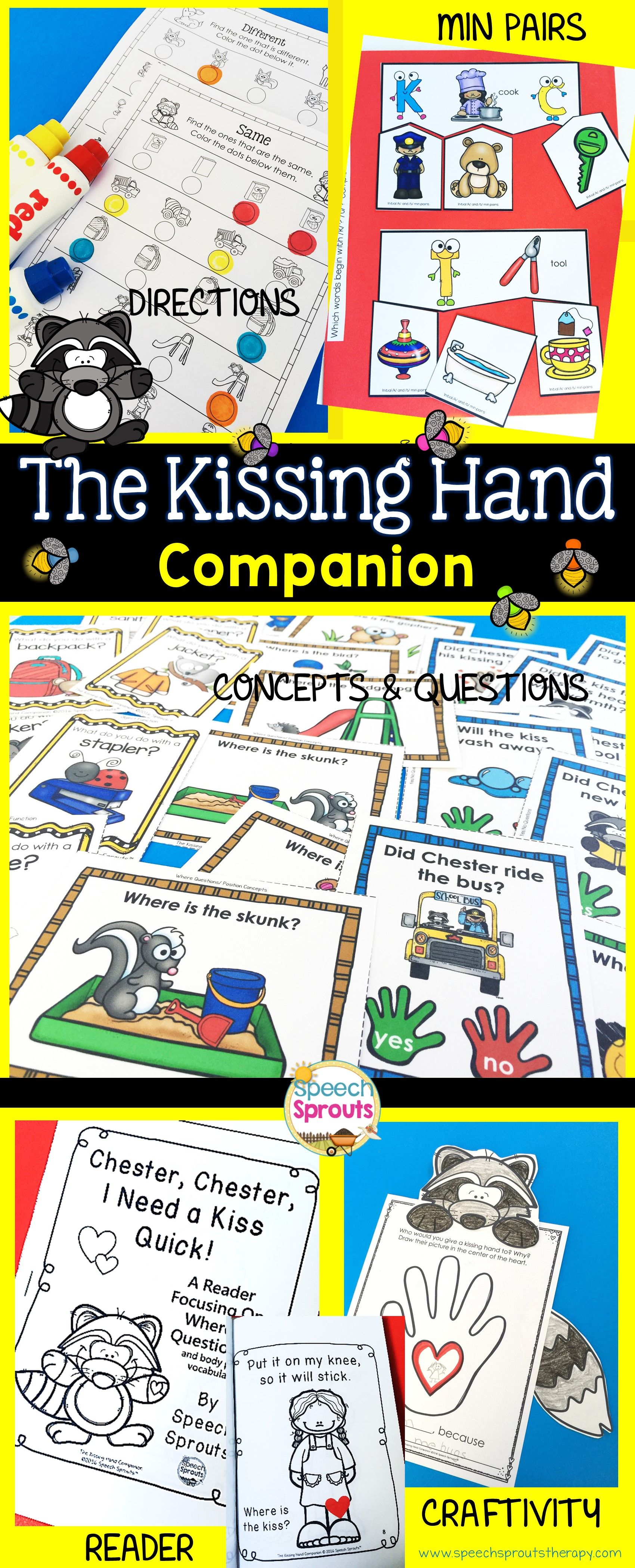 The Kissing Hand Back To School Speech Therapy Book