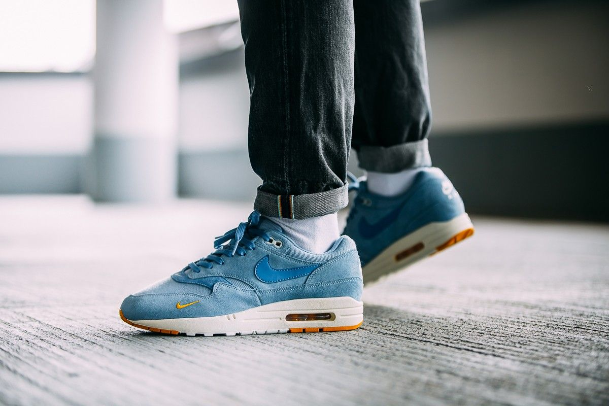 official photos a5bd8 356c6 Nike Air Max 1 Premium – Work Blue   Mountain Blue   Yellow Ochre