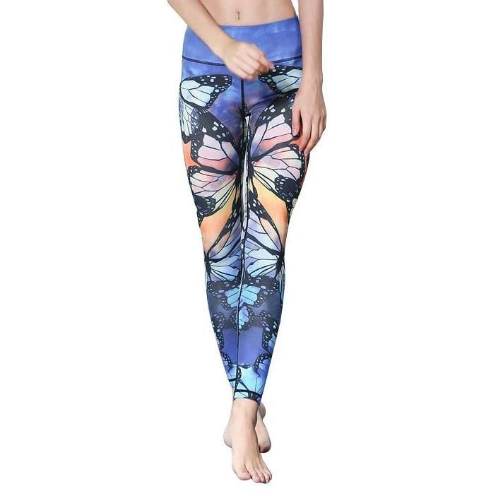 59ddd1f2a45e5 Butterfly Printed Yoga Pants | Products | Printed yoga pants, Yoga ...