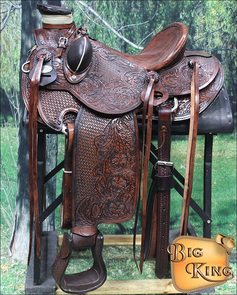 CWD005AAM HILASON BIG KING WESTERN LEATHER WADE RANCH ROPING