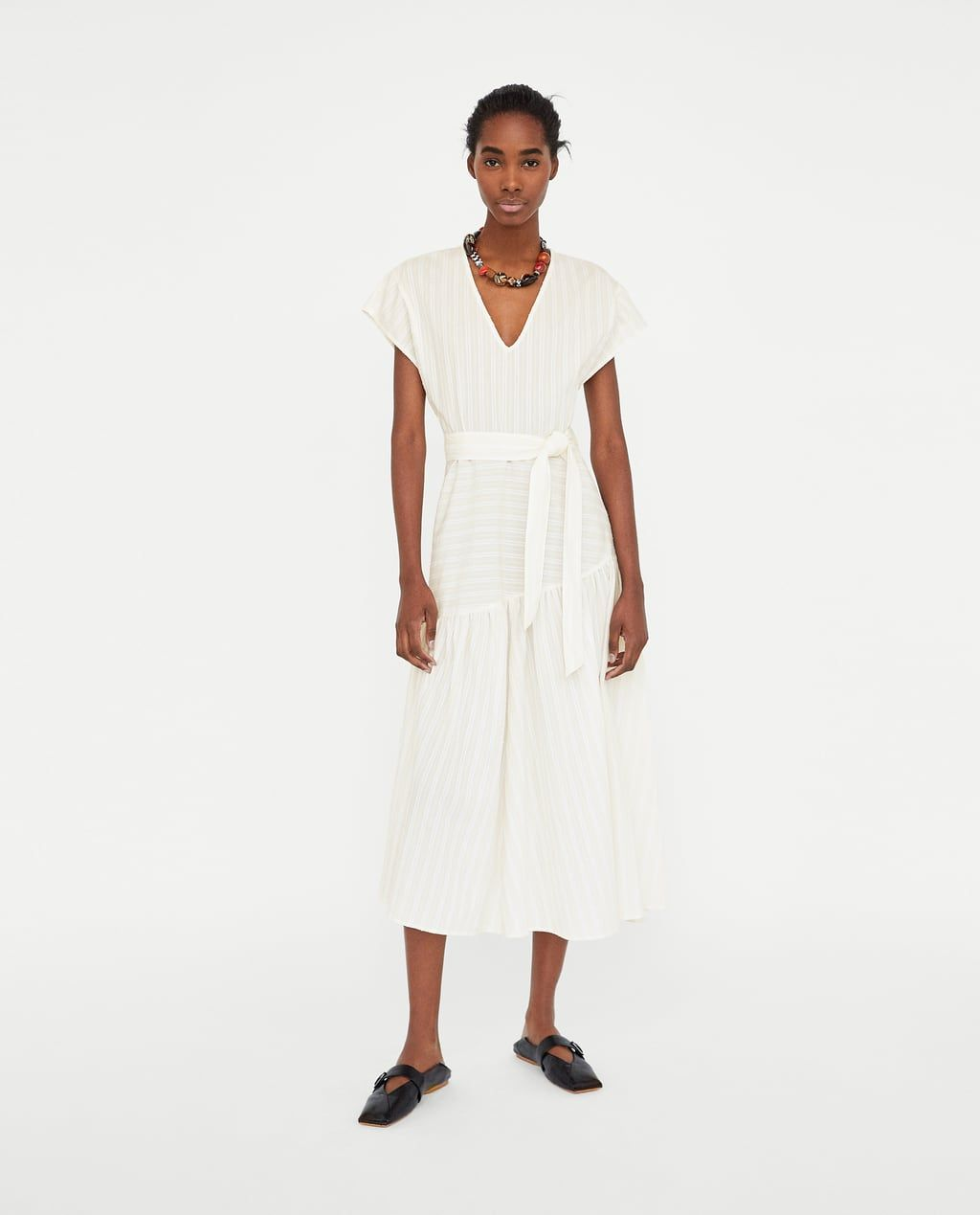vestido largo rayas | lange kleider, zara kleider, modestil