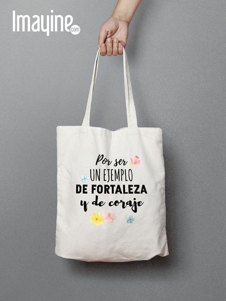 18295f900 Bolso de tela con una frase de lo más emotiva para el día de la madre.  #DiadelaMadre #RegalosMadre #Madres #FrasesMadre #BolsasdeTela  #BolsasconFrases