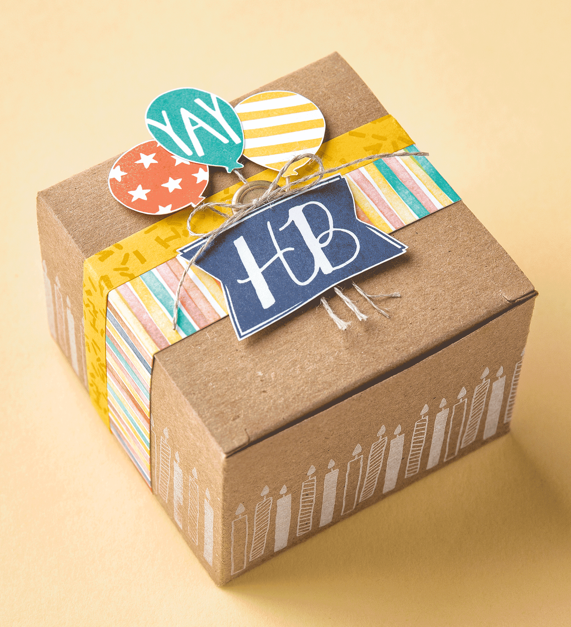 The Balloon Bash Stamp Set Is Perfect For Decorating Gift Boxes To Make A Birthday Present Even More Special