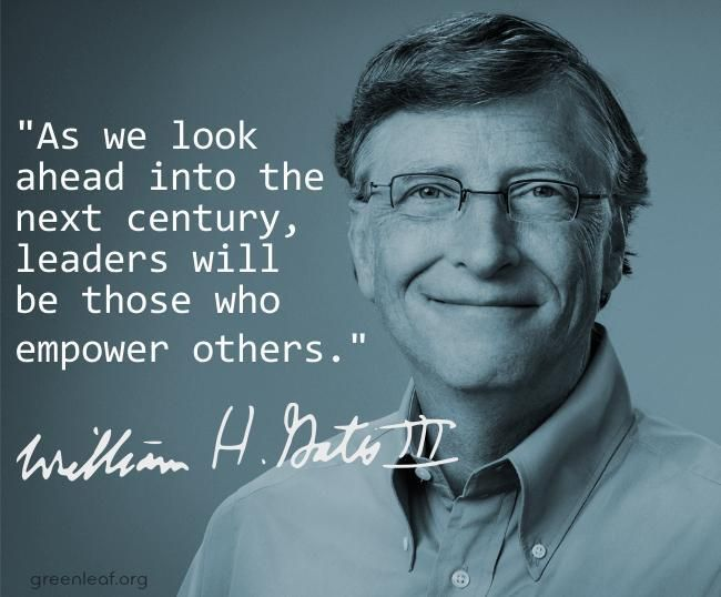 Bill Gates - u0027As we look ahead into the next century, leaders will - bill gates resume