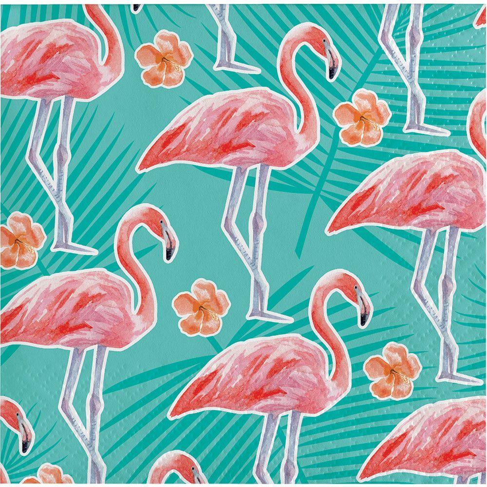 Island Oasis Flamingo Beverage Napkins [16ct]