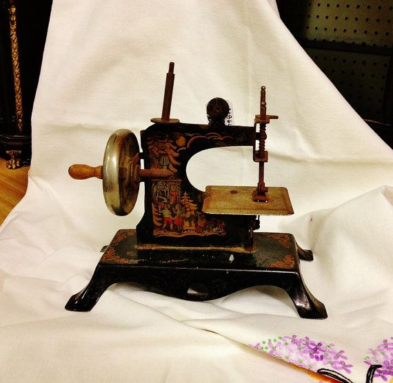 Where can you buy a VINTAGE CASIGE HANSEL AND GRETEL TOY SEWING MACHINE? Here and it is decorated with the Grimm Brothers Hansel & Gretel. www.etsy.com/listing/215668790