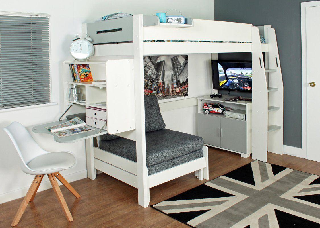 5ea7ddfc45d8 Eugenia European Single High Sleeper Bed | Nook | High sleeper bed ...