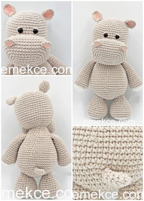 Amigurumi Crochet Sevimli Hipopotam Free Pattern Yapılışı #crochetanimalamigurumi
