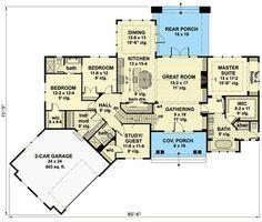 Plan 14651rk Exciting Craftsman House Plan Craftsman