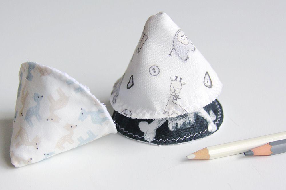 Lot de 3 cônes STOP PIPI - Noir et blanc - Coton : Puériculture par lucielauv