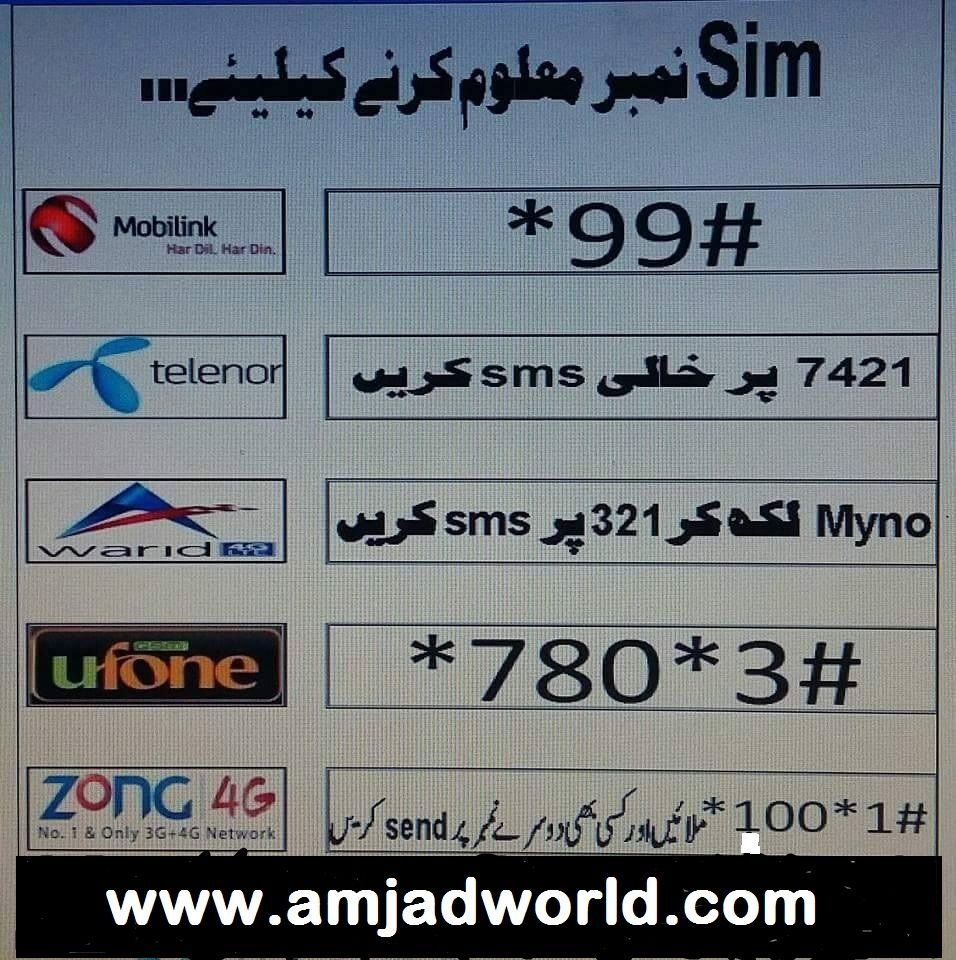 Check Sim Ownership Mobilink Jazz Telenor Zong Ufone