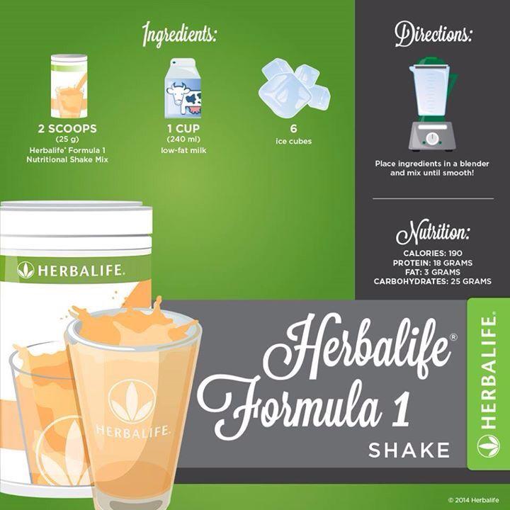 How To Make A Basic Shake Herbalife Recipes Herbalife Herbalife Shake
