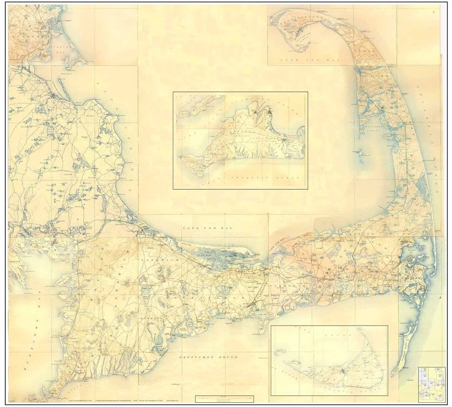 1890u0027s Topographic Map Of Cape Cod