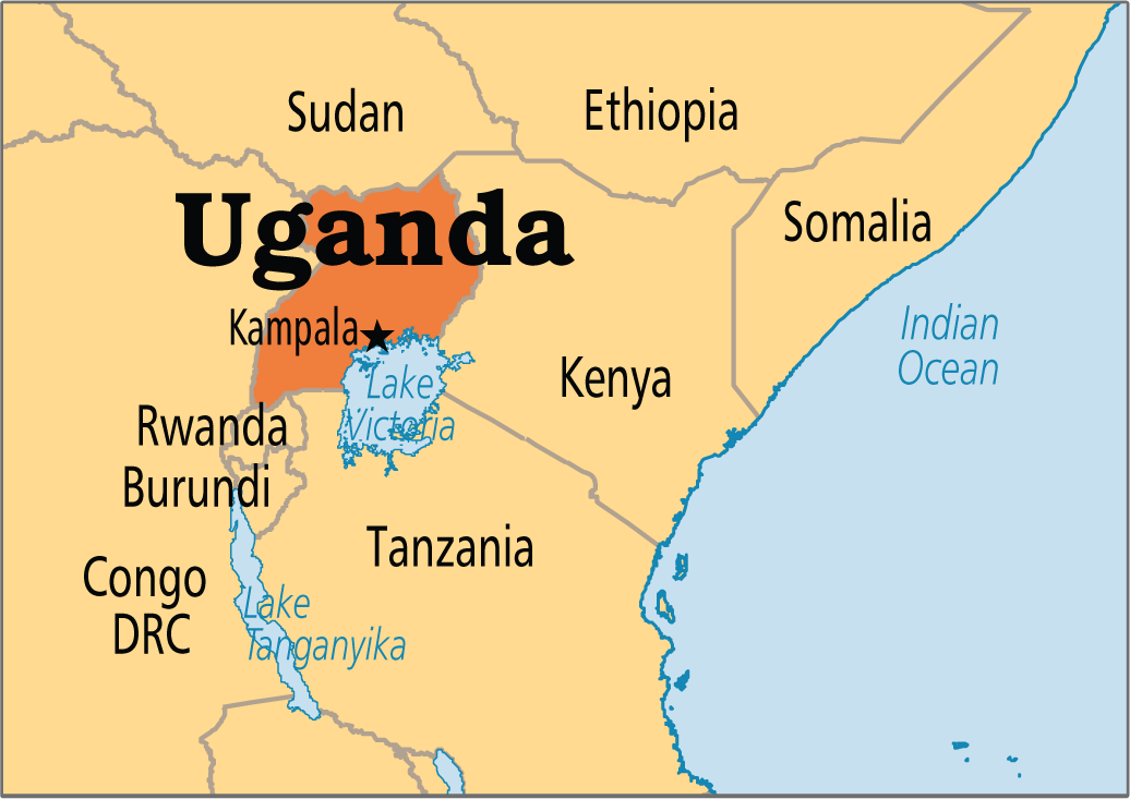 Kampala Uganda Map A map of Uganda class= | Uganda | Uganda, States, capitals, The