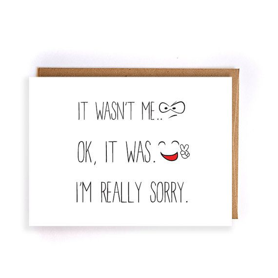 Sorry Cards For Best Friends
