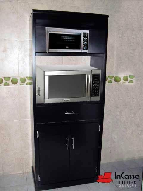 Porta microondas y hornito minimalista mod reston for Muebles de pino precios