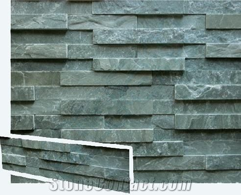 green stack stone | China Green Slate Cultured Stone Wall Panel ...