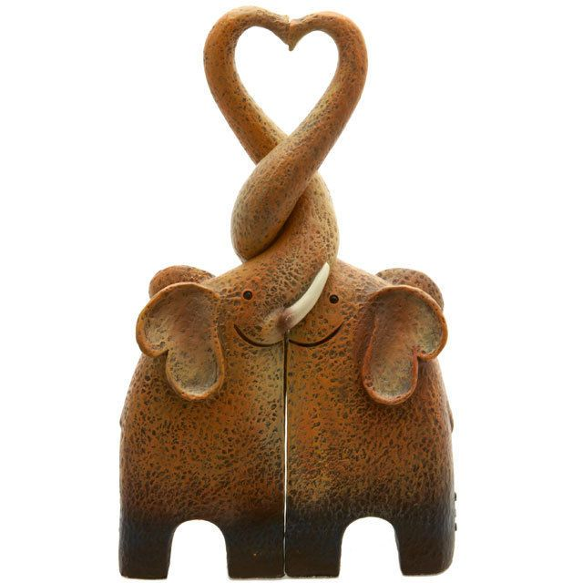Loving Elephant Couple Figurine !FREE UK P/&P!