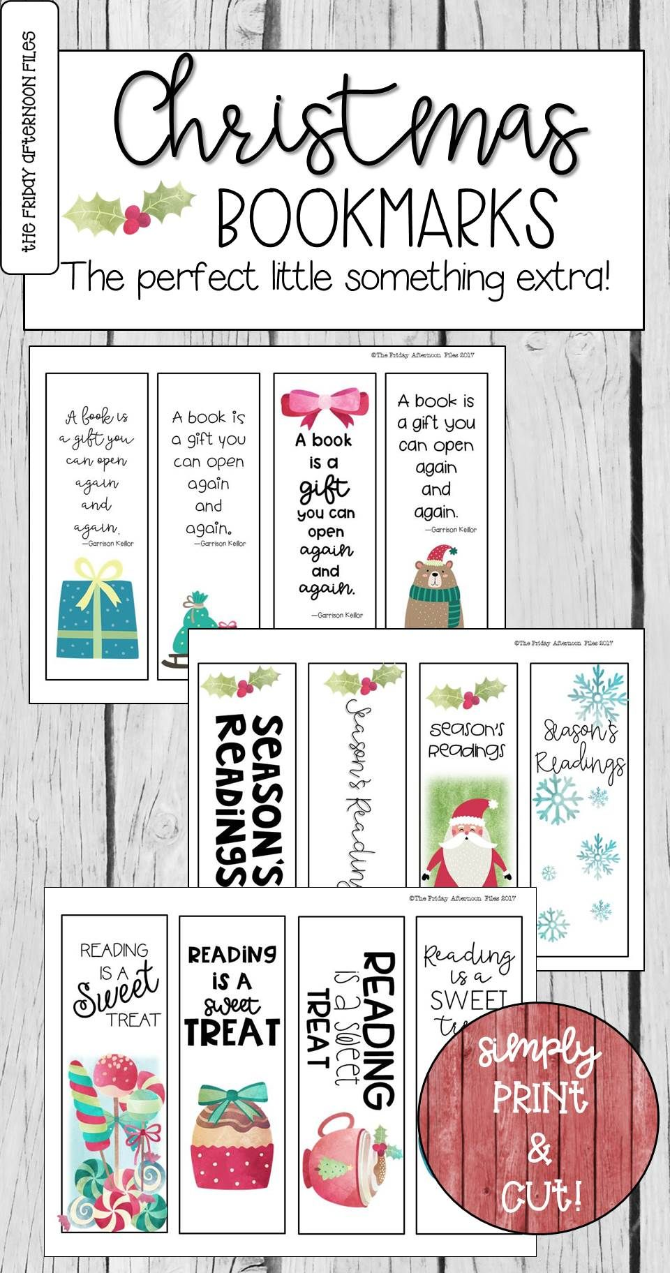 Christmas Bookmarks | All Subjects and Grades@TpT